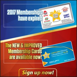 2017 Cards have expired! Renew Now!