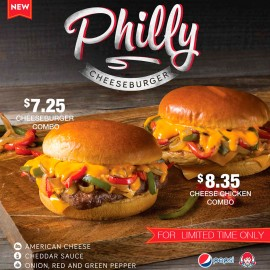 Philly Cheeseburger & Chicken Sandwich