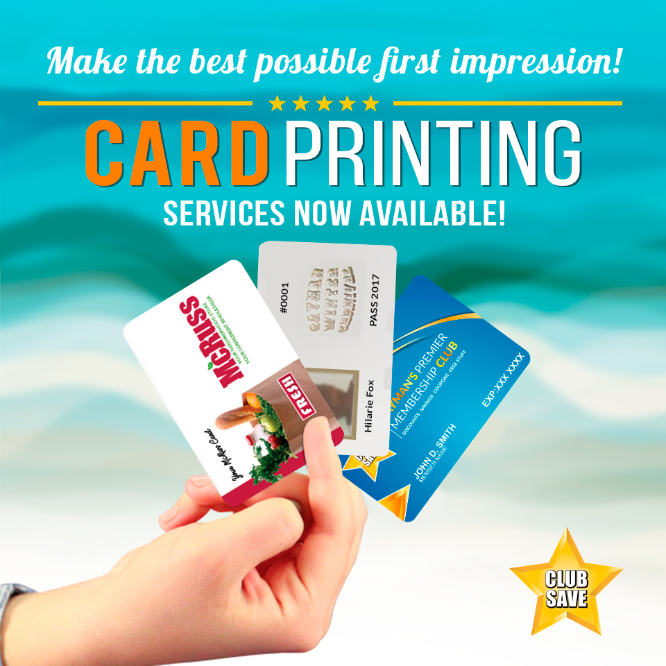 Card Printing Services Available