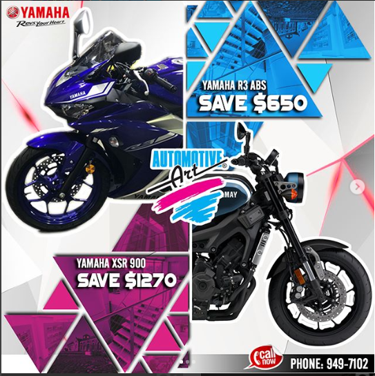 Automotive Art has JUST the Yamaha Motorcycle for YOU