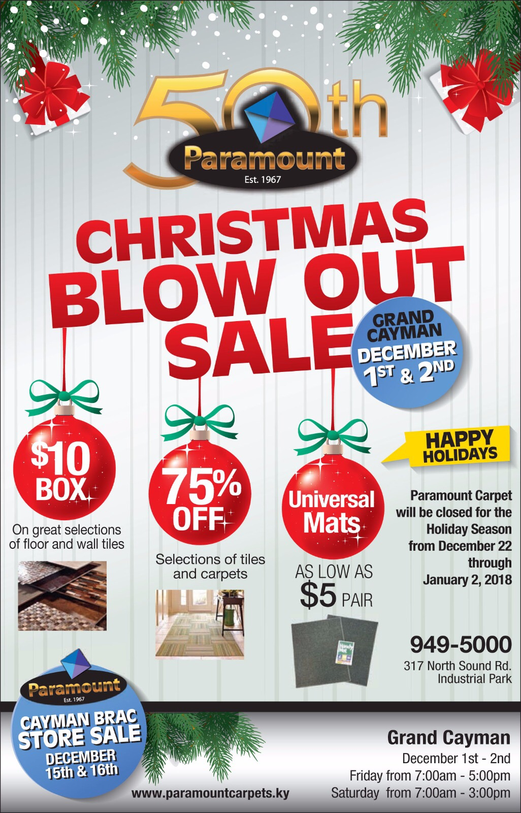 Christmas Blow Out Sale